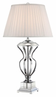 Lite Source LS-22104 Giovana 32 Inch Tall Chrome Finish Living Room Table Lamp