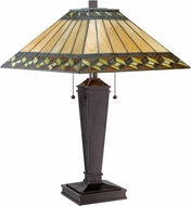 Lite Source LS-22131 Churchill Tiffany Dark Brown Lighting Table Lamp