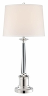 Lite Source LS-22133 Adara Transitional 30 Inch Tall Silver Plated Table Light