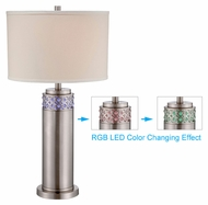 Lite Source LS-22141 Cinzia Color Changing LED 30 Inch Tall Modern Table Lamp - Polished Steel