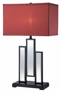 Lite Source LS-22163 Specchio Contemporary Black Finish Mirror Body Table Lamp