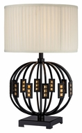 Lite Source LS-22166 Topaz Modern Style Black 28 Inch Tall Living Room Table Lamp