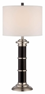 Lite Source LS-22205 Eldora Dark Walnut Wood Transitional Club Lamp - 31 Inches Tall