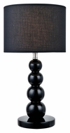 Lite Source LS-22217BLK Doniel Black Ceramic 18 Inch Tall Modern Lamp