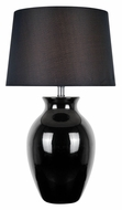 Lite Source LS-22219BLK Maya 26 Inch Tall Transitional Black Lamp - Ceramic