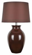 Lite Source LS-22219BRN Maya 26 Inch Tall Brown Ceramic Lamp Lighting