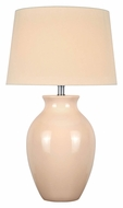 Lite Source LS-22219IVY Maya Transitional Ivory Ceramic Living Room Table Lamp