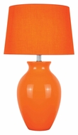 Lite Source LS-22219ORN Maya Orange Ceramic 26 Inch Tall Table Lighting