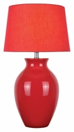 Lite Source LS-22219RED Maya Red Ceramic Transitional Style Table Light