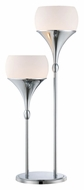 Lite Source LS-22225 Celestel 2 Light Chrome Finish 30 Inch Tall Modern Table Light