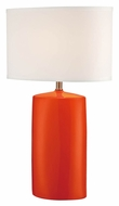 Lite Source LS-22236ORN Narvel II Orange Ceramic Living Room Table Lamp