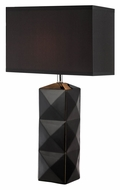 Lite Source LS-22239BLK Robena 28 Inch Tall Modern Lamp - Black Ceramic