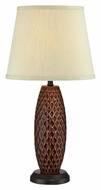 Lite Source LS-22245 Pi�a 2 Tone 22 Inch Tall Modern Ceramic Lamp