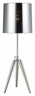 Lite Source LS-22249 Zarah 2 Tone Polished Steel & Chrome Tripod Table Lamp - Modern