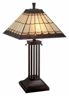 Lite Source LS-22260 Arty 27 Inch Tall Tiffany Lamp Lighting - Dark Bronze