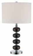 Lite Source LS-22263 Mistico Gun Metal & Chrome Finish Table Lamp