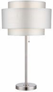 Lite Source LS-22305 Sebille Contemporary Polished Steel Fluorescent Table Lamp