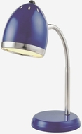 Lite Source LS-22311BLU Zachary Modern Blue Fluorescent Task Lamp