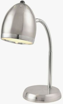 Lite Source LS-22311PS Zachary Contemporary Polished Steel Fluorescent Desktop Lamp