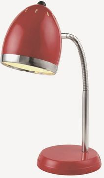 Lite Source LS-22311RED Zachary Modern Red Fluorescent Study Lamp