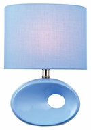 Lite Source LS-22315L/BLU Hennessy II Blue Ceramic 13 Inch Tall Modern Lamp