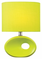 Lite Source LS-22315L/GRN Hennessy II Fluorescent 13 Inch Tall Green Ceramic Lamp