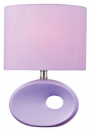 Lite Source LS-22315LAV Hennessy II Lavendar Fluorescent Table Lamp - 13 Inches Tall