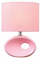 Lite Source LS-22315PINK Hennessy II Pink Ceramic Modern 13 Inch Tall Fluorescent Table Light