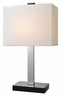 Lite Source LS-22316 Maddox Modern Polished Steel Finish 20  Tall Table Lamp Lighting
