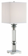 Lite Source LS-22347 Nicolette Modern Chrome Finish 27.5  Tall Table Lamp