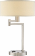 Lite Source LS-22355PS-OTL Landon Modern Polished Steel Fluorescent Table Lighting