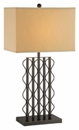 Lite Source LS-22358 Rexford Contemporary Dark Bronze Finish 16  Wide Lighting Table Lamp