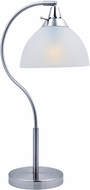 Lite Source LS-22376 Zuna Polished Steel Finish 22  Tall Side Table Lamp