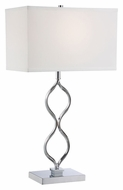 Lite Source LS-22386 Sheena Chrome 16  Wide Table Lamp For Living Room