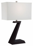 Lite Source LS-22387 Zac Dark Walnut 18  Wide Table Lamp Lighting