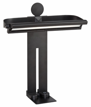 Lite Source LS-22397BLK Lanzo Contemporary Black Finish 12  Wide LED Study Lamp