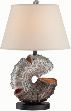 Lite Source LS-22414 Nautilus Nautical Aged Silver Table Light
