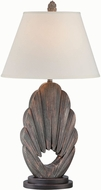 Lite Source LS-22418 Neolani Dark Walnut Fluorescent Table Lamp Lighting