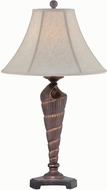 Lite Source LS-22419 Conch Nautical Dark Bronze Fluorescent Table Top Lamp