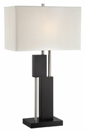 Lite Source LS-22430 Taffy Contemporary Polished Steel Finish 17  Wide Table Light