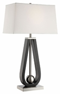 Lite Source LS-22432 Gaston Modern Polished Steel Finish 30.5  Tall Table Lighting