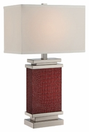 Lite Source LS-22441 Kelis Modern Polished Steel Finish 25.5  Tall Table Lamp
