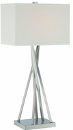 Lite Source LS-22453 Frasco Modern Polished Steel Fluorescent Table Lamp Lighting