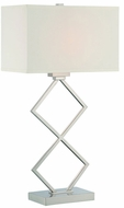 Lite Source LS-22458 Caradoc Modern Polished Steel Fluorescent Side Table Lamp