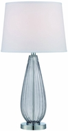 Lite Source LS-22471SMOKE Laurien Chrome Fluorescent Table Top Lamp