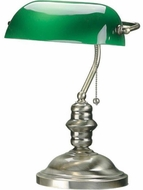 Lite Source LS-224AB Banker Antique Brass Reading Lamp