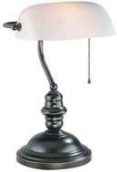 Lite Source LS-224DBRZ Banker Traditional Dark Bronze Reading Lamp