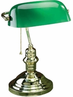 Lite Source LS-224PB Banker Polished Brass Fluorescent Craft Lamp