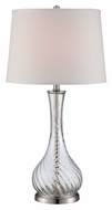 Lite Source LS-22504 Hailey Contemporary Polished Steel Finish 14.5  Wide Lighting Table Lamp