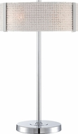 Lite Source LS-22512 Maso Contemporary Chrome / Frost Table Lamp
